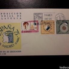 Sellos: ESPAÑA. EDIFIL 2174/6 SERIE COMPLETA. SOBRE DE PRIMER DÍA. EXPOSICIÓN FILATELIA ESPAÑA 75. 1974. Lote 169142198