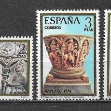 Sellos: ESPAÑA 1974 ** NUEVO EDIFIL 2217/2219 - 6/12. Lote 169205444
