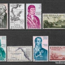 Sellos: ESPAÑA 1967 ** NUEVO EDIFIL 1819/1826 - 6/12. Lote 169209148