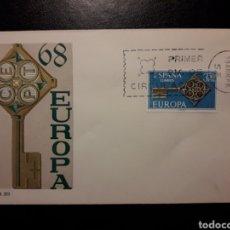 Sellos: ESPAÑA. EDIFIL 1868 SERIE COMPLETA. SOBRE DE PRIMER DÍA. EUROPA CEPT. 1968. LLAVE.. Lote 169246886
