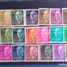 Sellos: SELLOS ESPAÑA - FRANCO 1955/56 - SERIE COMPLETA 21 SELLOS - USADOS - EDIFIL 1143/1163. Lote 169278128