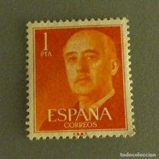 Sellos: ESPAÑA 1 PESETA SERIE BÁSICA FRANCO. Lote 169922060