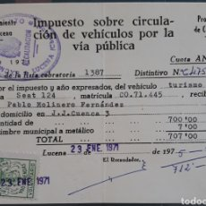 Sellos: INTERESANTE DOCUMENTO CON EDIFIL PRO VIVIENDAS LUCENA CORDOBA 1971. Lote 170012933