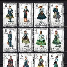 Sellos: 1968 ESPAÑA EDIFIL 1839/1850 - TRAJES REGIONALES - MNH** - NUEVOS SERIE COMPLETA SIN FIJASELLOS. Lote 170218476