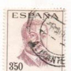 Sellos: SELLO 3,50 PESETAS - CENTENARIO CELEBRIDADES, RUBÉN DARIO - AÑO 1967 - ESPAÑA - CIRCULADO. Lote 170379128