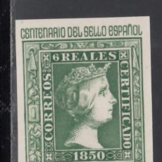 Sellos: ESPAÑA,1950 EDIFIL Nº 1082 /**/, CENTENARIO DEL SELLO ESPAÑOL, BORDE DE HOJA.. Lote 170562612
