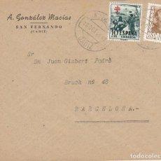 Sellos: SAN FERNANDO (CADIZ) A ALMERIA. 1953. Lote 171050533