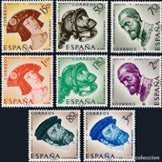Sellos: 1958 EDIFIL 1224/31* NUEVOS CON CHARNELA. IV CENTENARIO MUERTE CARLOS I. Lote 171273605