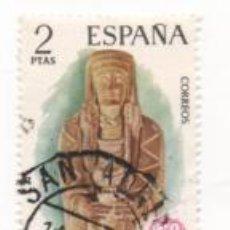 Sellos: SELLO 2 PESETAS DAMA OFERENTE DEL CERRO DE LOS SANTOS, ALBACETE 1974 EUROPA CIRCULADO. Lote 171313469