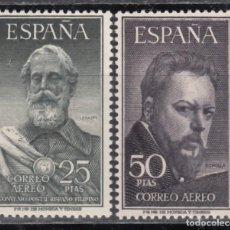 Sellos: ESPAÑA, 1953 EDIFIL Nº 1124 / 1125, /**/, LEGAZPI Y SOROLLA, SIN FIJASELLOS. . Lote 171348545