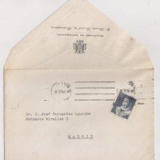 Sellos: SOBRE MADRID. CORREO INTERIOR. MANDADO POR EL DIRECTOR GENERAL DE RADIODIFUSIÓN. 1951. Lote 171726467