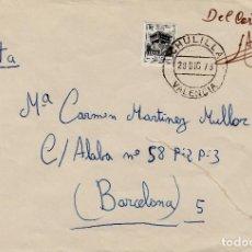 Sellos: SOBRE FRANQUEADO CON SELLO DE MUTUALIDAD POSTAL EN CHULILLA -XULILLA- VALENCIA . Lote 171806799