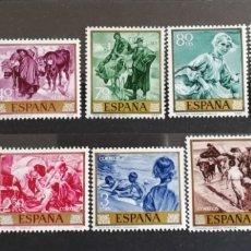 Sellos: ESPAÑA :N°1566/75 MNH, SOROLLA 1964.. Lote 294371458