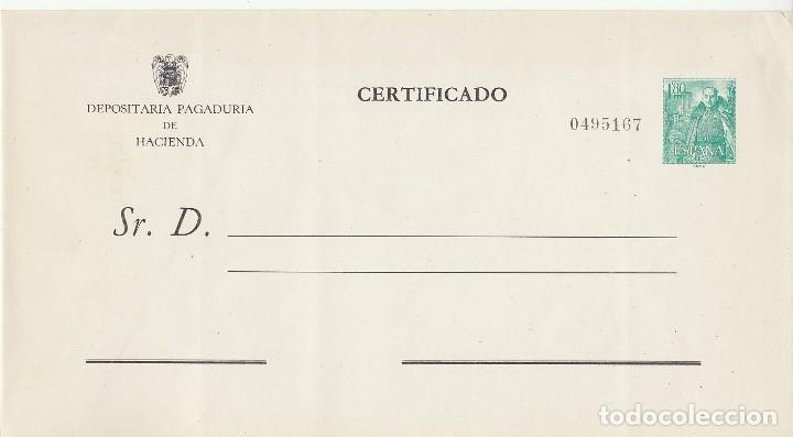 Sellos: Sobre: ADMINISTRACIÓN PÚBLICA. GENERAL FRANCO y CASTILLO de la MOTA. 1958. - Foto 3 - 172289795