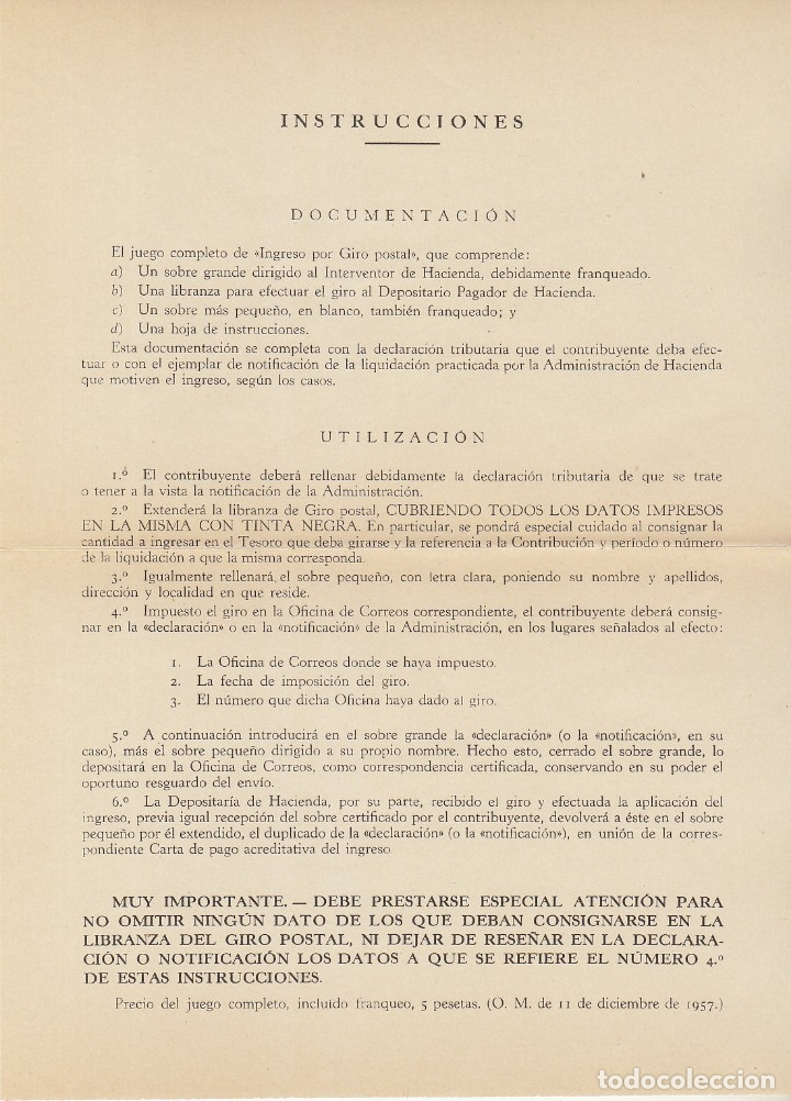 SOBRE : ADMINISTRACIÓN PÚBLICA. GENERAL FRANCO Y CASTILLO DE LA MOTA.1958. (Sellos - España - II Centenario De 1.950 a 1.975 - Cartas)