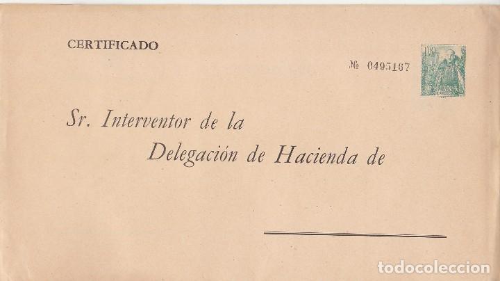 Sellos: Sobre : ADMINISTRACIÓN PÚBLICA. GENERAL FRANCO y CASTILLO de la MOTA.1958. - Foto 2 - 172289875