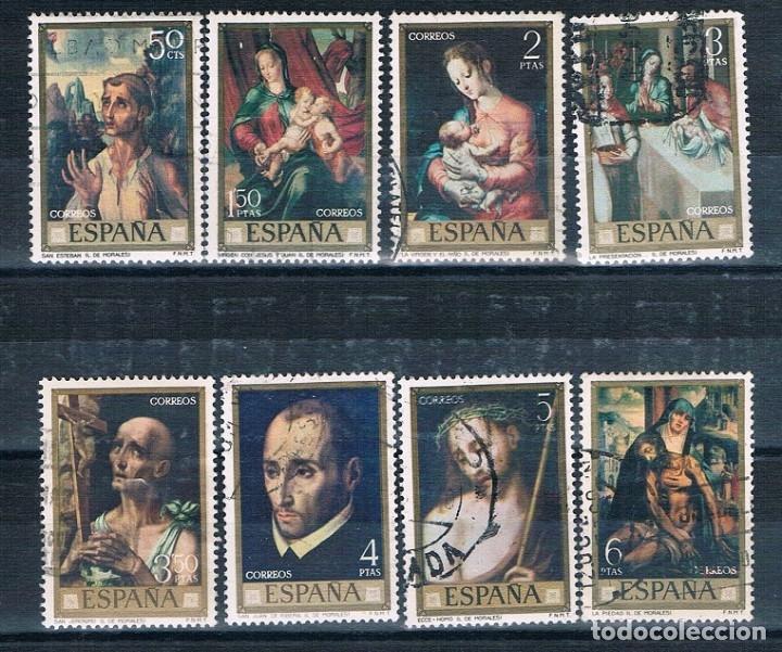 ESPAÑA PINTORES USADOS 7 FOTOGRAFÍAS (Sellos - España - II Centenario De 1.950 a 1.975 - Usados)
