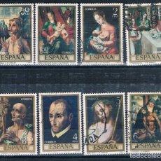 Sellos: ESPAÑA PINTORES USADOS 7 FOTOGRAFÍAS. Lote 172659137