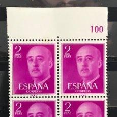 Sellos: SELLOS ESPAÑA 1955 GENERAL FRANCO EDIFIL 1158 B4 MNH** CON MARGEN DE HOJA. Lote 173090552