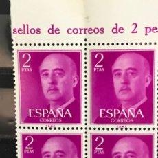 Sellos: SELLOS ESPAÑA 1955 GENERAL FRANCO EDIFIL 1158 B4 MNH** CON MARGEN DE HOJA. Lote 173090569