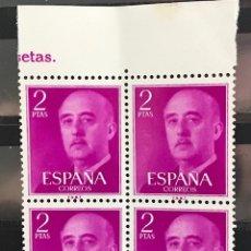 Sellos: SELLOS ESPAÑA 1955 GENERAL FRANCO EDIFIL 1158 B4 MNH** CON MARGEN DE HOJA. Lote 173090590