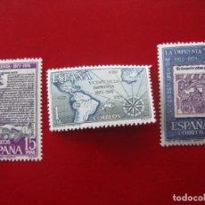 Sellos: 1973 V CENTENARIO DE LA IMPRENTA, EDIFIL 2164/66. Lote 173521014