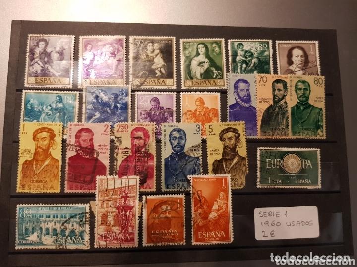 SELLOS ESPAÑA USADOS DE 1960 (Sellos - España - II Centenario De 1.950 a 1.975 - Usados)