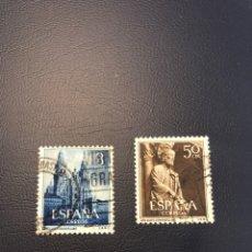 Sellos: EDIFIL 1130 1131 SELLOS ESPAÑA 1954 USADO. Lote 174442429