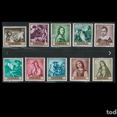 Sellos: ESPAÑA - 1962 - EDIFIL 1418/1427 - SERIE COMPLETA - MNH** - NUEVOS - FRANCISCO DE ZURBARAN.. Lote 175300285