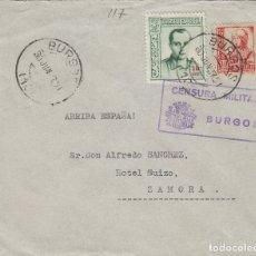 Selos: BURGOS - CENSURA MILITAR -- SOBRE DE CARTA E. ESPAÑOL. Lote 175707390