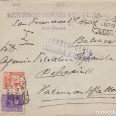Sellos: CÁDIZ - CENSURA MILITAR - CERTIFICADO , PATRIÓTICO - SOBRE DE CARTA E. ESPAÑOL . Lote 175720793