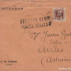 Sellos: CÁDIZ - CENSURA MILITAR - - SOBRE DE CARTA E. ESPAÑOL . Lote 175720818
