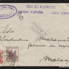 Sellos: CÁDIZ - ALGECIRAS CENSURA MILITAR - RMTE RAFAEL LOPEZ - SOBRE DE CARTA E. ESPAÑOL . Lote 175720860