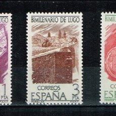 Sellos: ESPAÑA 1976 - EDIFIL 2356/58** - BIMILENARIO DE LUGO. Lote 175729163