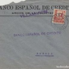 Sellos: CÁDIZ - VILLAMARTIN CENSURA MILITAR- DORSO SELLO BISECTADO . -SOBRE DE CARTA E. ESPAÑOL . Lote 175729625