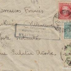 Sellos: CÁDIZ - SAN FERNANDO CENSURA MILITAR- .FRANQUEO MIXTO -SOBRE DE CARTA. Lote 175729872