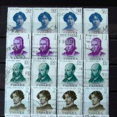 Sellos: 1990-5, CUATRO SERIES USADAS. LITERATOS.. Lote 176626848