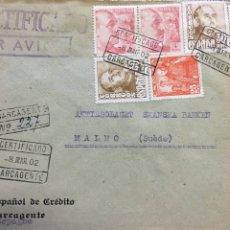 Sellos: CARTA CIRCULADA AÑO 1952. Lote 176801468