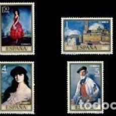 Sellos: ESPAÑA 1971 EDIFIL 2019/26 SELLOS ** DIA DEL SELLO PINTOR IGNACIO DE ZULOAGA YVERT1674/81 CTª SPAIN . Lote 176866830