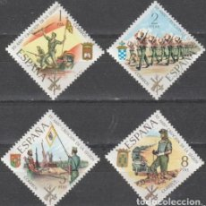Sellos: ESPAÑA 1971 2043/6 SELLOS NUEVOS L ANIVERSARIO DE LA LEGIÓN TERCIOS COMPLETA DUQUE DE ALBA, GRAN CAP. Lote 176867072