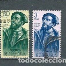 Selos: ESPAÑA,1962,FORJADORES,EDIFIL 1456 Y 1460,USADOS. Lote 177031773