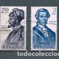 Selos: ESPAÑA,1963,FORJADORES,EDIFIL 1531-1532,USADOS. Lote 177032524