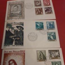 Sellos: ZURBARAN PINTOR SERIE PRIMER DÍA 1962 EDIFIL 1418/27. Lote 177697503