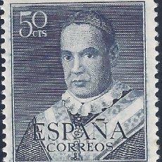 Sellos: EDIFIL 1102 SAN ANTONIO MARÍA CLARET 1951 (VARIEDAD 1102IT...BLANCO EN Ñ DE ESPAÑA). LUJO. MNH **. Lote 178117853