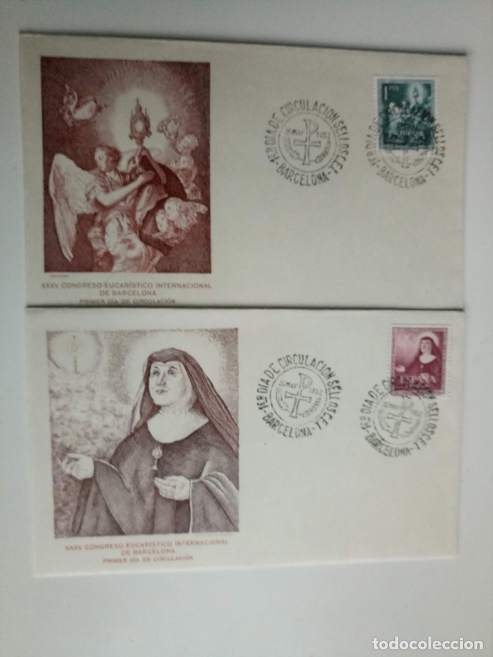 SPD CIRCULACION DEL CONGRESO EUCARISTICO AÑO 1952 (Sellos - España - II Centenario De 1.950 a 1.975 - Cartas)