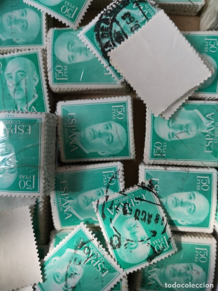Sellos: Sellos usados época Franco más de 5000 sellos - Foto 5 - 178678661