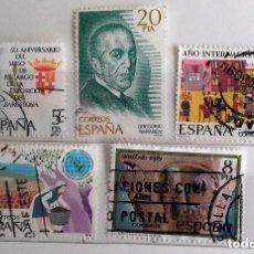 Sellos: ESPAÑA 1979, LOTE DE 5 SELLOS USADOS DIFRENTES. Lote 179216701
