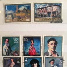 Sellos: ESPAÑA 1971, SERIE COMPLETA, PINTORES: IGNACIO ZULOAGA, 8 SELLOS USADOS. Lote 179235455