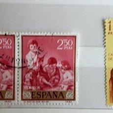 Sellos: ESPAÑA 1960, 3 SELLOS USADOS,. Lote 179235746