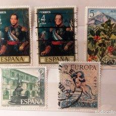 Sellos: ESPAÑA 1973, 5 SELLOS USADOS. Lote 179235816